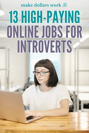Pin: High-Paying Online Jobs for Introverts
